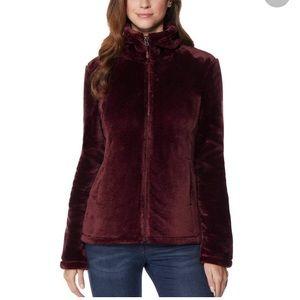 Burgundy 32 Degrees Faux Fur Jacket